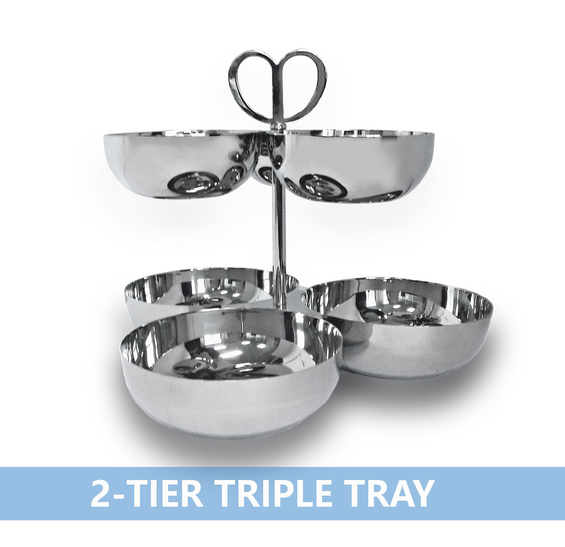 兩層三格碗2-tier Triple Tray